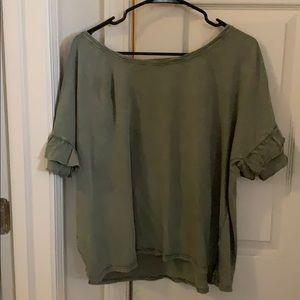 Lucky Brand Flutter sleeve shirt